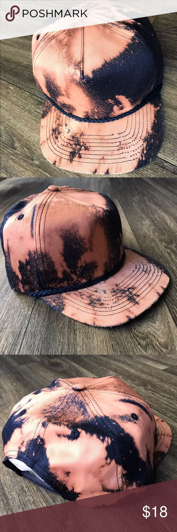 Distressed SnapBack Hat🌊 - Handmade Custom SnapBack (BY ME) 🌊 Perfect for the Season!   • CHECK OUT my distressed shirts as well!   ••• P.S. --> Some parts of fabric are very thin and sensitive because they have been sanded, ripped, bleached and ect.   Do not bleach - Wash gently in cold water - Air Dry (preferred) - Items come Pre-Washed - - - • Don't forget to Bundle ! • I Accept Offers 🦋 • Instagram : @RoyallyRococo Accessories Hats