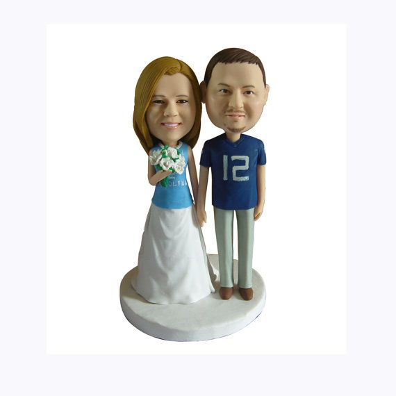 Sports cake topper, custom wedding cake topper, personalized, unique, one of kind, keepsake, sprots fan cake topper, wedding, caketopper888