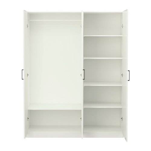 Aspelund Ikea Wardrobe Reviews ~ 130 DOMBÅS Wardrobe IKEA Adjustable shelves and clothes rail