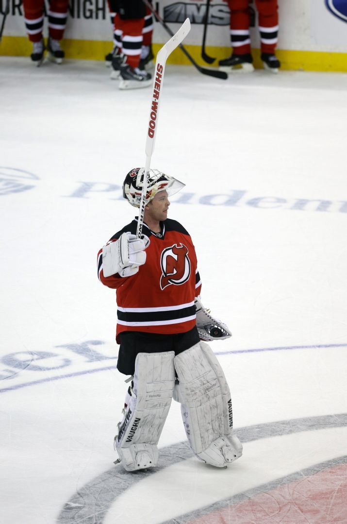 Martin Brodeur, New Jersey Devils, in likely his final game in the NHL, 04/13/2014