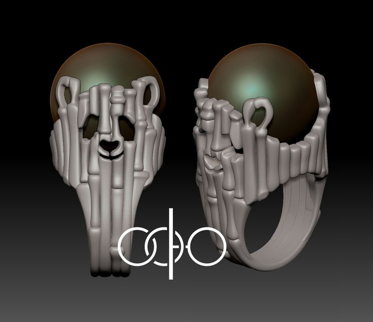 #Кольцо #Панда. #3д модель для #печати в #воске на #3д_принтере. #Ювелирное_украшение. / #Ring #Panda. #3d_model for #printing in #wax on the #3d_printer. #Jewelry.