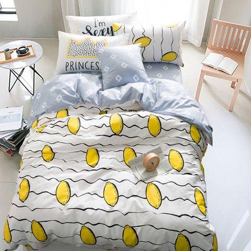 Avrupa tarzı yatak seti kraliçe kral boyutu için siyah & beyaz yıldız serisi bedlinens yatak % 100% Pamuk nevresim set