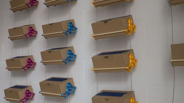 Make these simple shelves to hold all your tinkering parts or craft supplies!