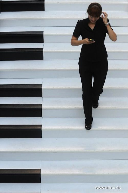 In China, 'Piano Staircase'