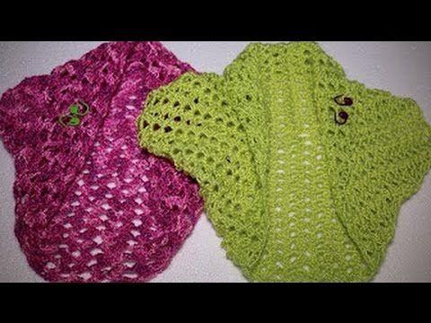 Como hacer una torera o bolero en 3 pasos en crochet (EDITADO) - YouTube