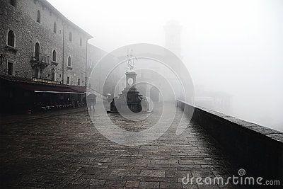 San Marino in the fog