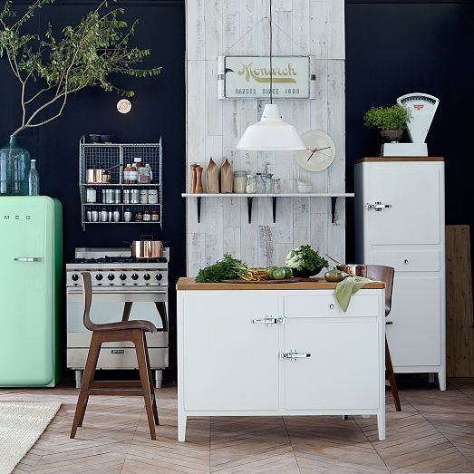 Mint Chocolate Chip color palette in this kitchen from west elm's March catalog!