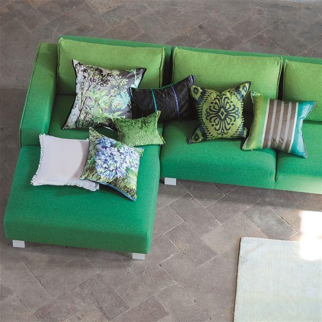 Hiranya Grass Cushion   Designers Guild