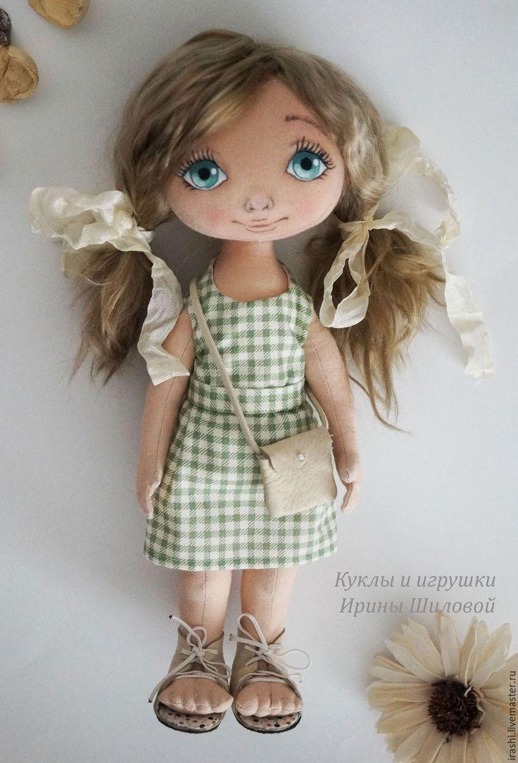 Купить Кукла Полина - салатовый, текстильная кукла, интерьерная кукла, текстильная игрушка, подарок девушке