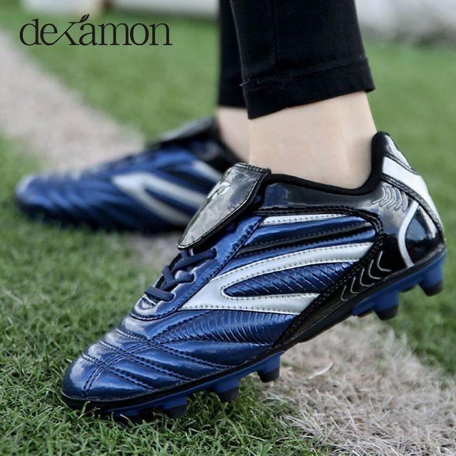 Zapatos de fútbol botas Unisex bota de fútbol, botas de fútbol para adultos niños de 33--44 tamaño zapatillas de entrenamiento