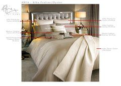 AW16 Kylie at home Alba Praline/Oyster bedding and cushions