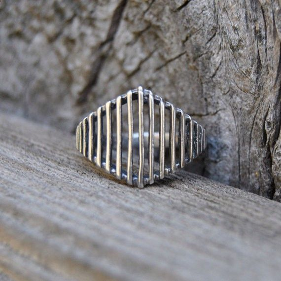 Lost Wax Casting Ring, Sterling Silver Ring, Rustic Silver Ring, Statement Ring