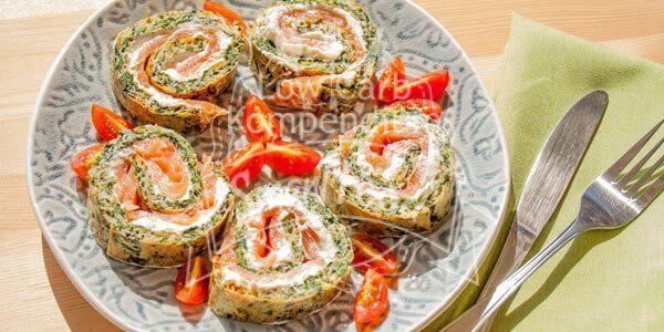 Das beliebte Rezept mit tollen gesunden Zutaten wie Spinat, Räucherlachs & Frischkäse, ganz ohne Mehl. Schmeckt köstlich & sättigt.