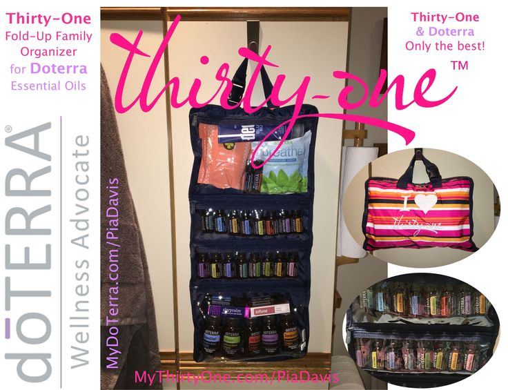 Thirty-One Fold-Up Family Organizer is great for DoTerra.