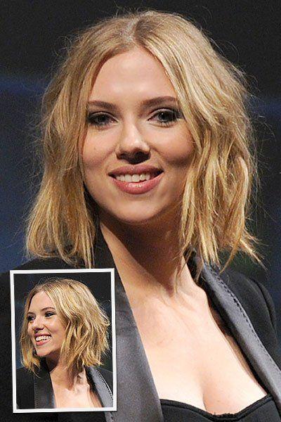 Get The Look: Scarlett Johansson's Wavy Bob     Daily Makeover