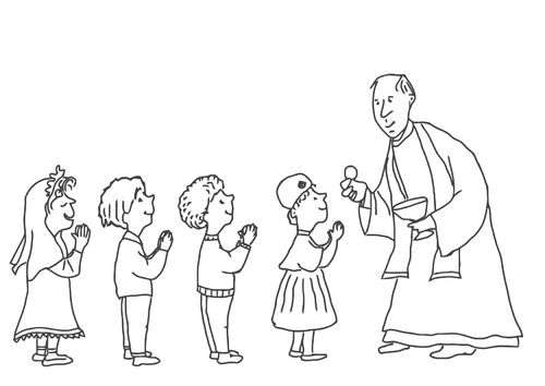 Coloring pages first holy communion pinterest for Communion for kids coloring pages