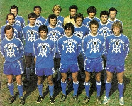 Bastia of France team group in 1978.