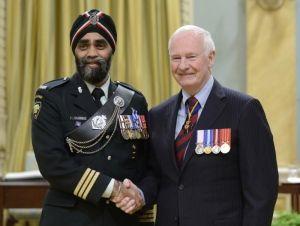 Harjit Sajjan and Gov. Gen. David Johnston