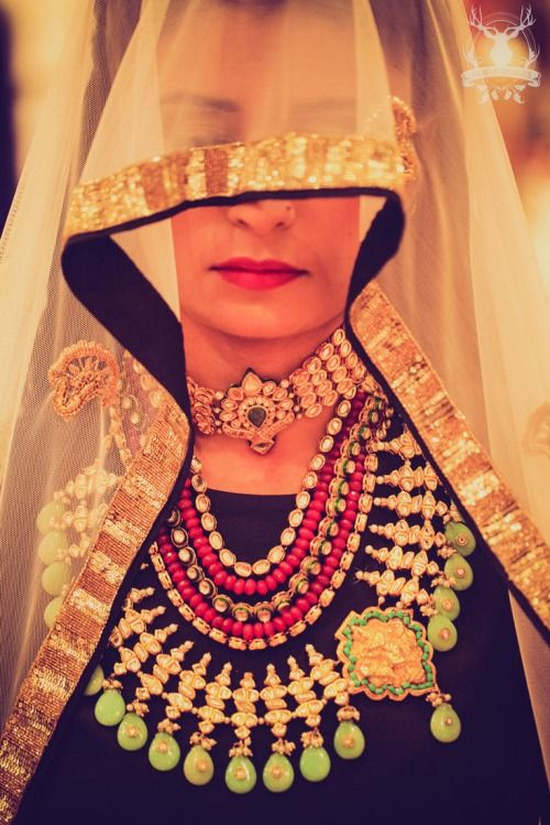 IT'S PG'LICIOUS — WMG Red Carpet bride at Aza: A black mystery !   #indianbride #indianfashion