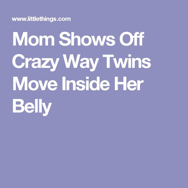 Mom Shows Off Crazy Way Twins Move Inside Her Belly