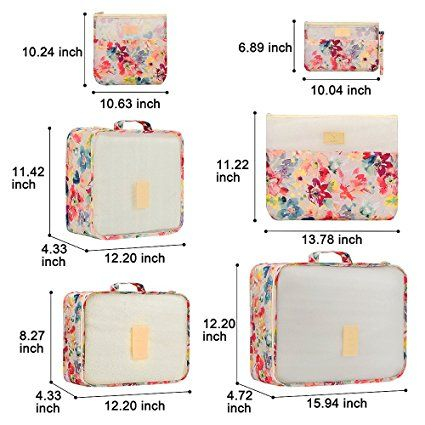 Amazon.com: maxkim 6Set Bolsas de almacenaje de viaje multifuncional ropa Sorting paquetes de viajes , impermeable bolsas de embalaje, equipaje Organizador Bolsa: Home & Kitchen