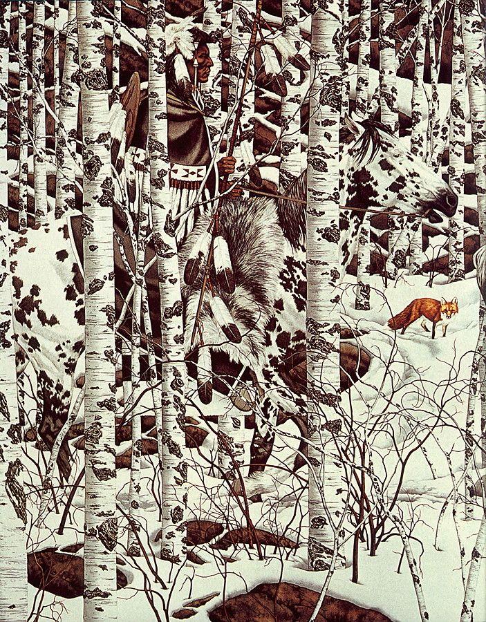bev doolittle paintings | LRS Art Medley] Bev Doolittle, Woodland Encounter; Image ONLY
