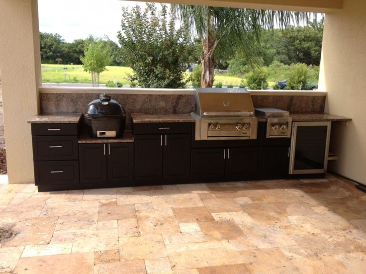 Astounding Polymer Kitchen Cabinets For Outside With Black Veined Granite  Table Top Also Slate Tile Floor Patterns from Best Outdoor Cabinets    Pinterest  Astounding Polymer Kitchen Cabinets For Outside With Black Veined  . Outdoor Kitchen Cabinets And More. Home Design Ideas