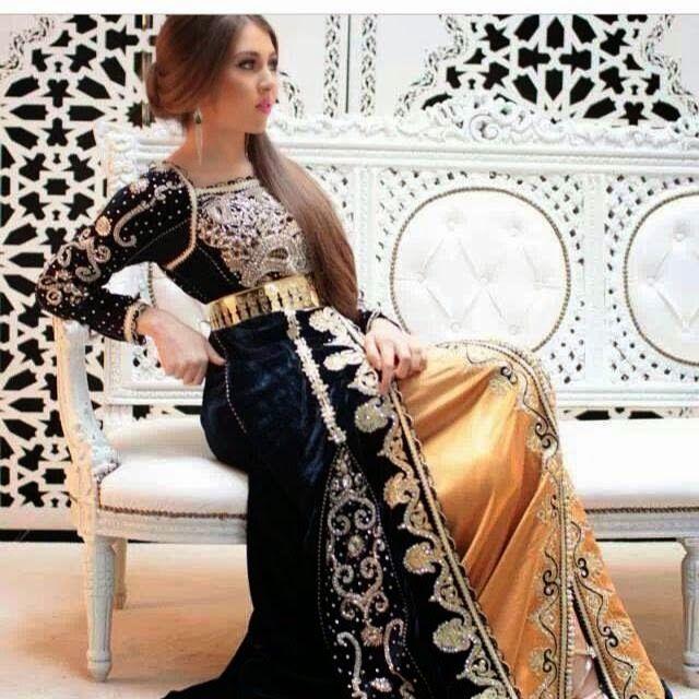Un nouveau style du caftan sari 2015 charg de broderies for Caftan avec satin de chaise