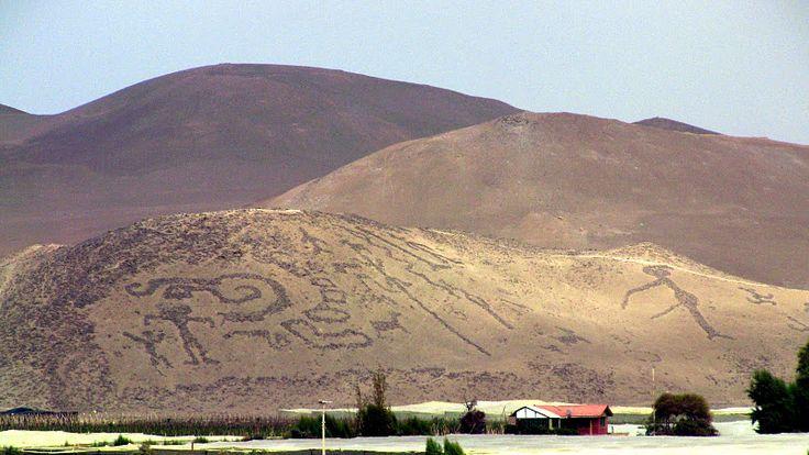 Geoglifos de la Tropilla en Arica - Valle de Azapa - Chile