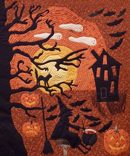 Halloween Quilt | Photographed this quilt at Heritage Park | Nancy Chow | Flickr