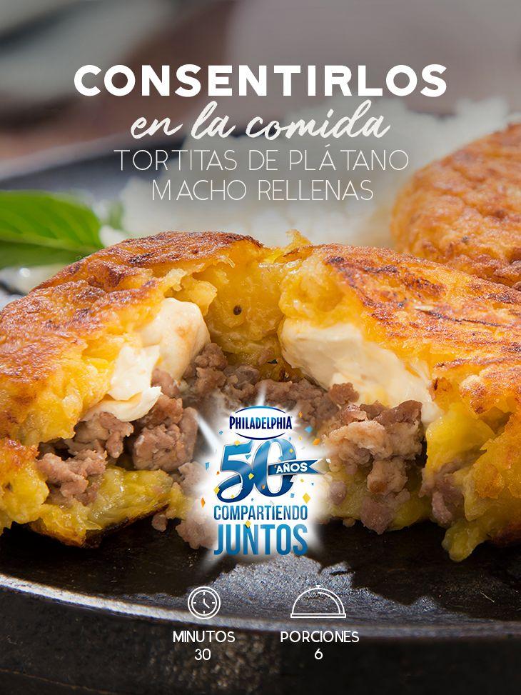 Una receta deliciosa para consentir a los favoritos de la familia. Prepara estas Tortitas de plátano macho rellenas. #recetas #receta #quesophiladelphia #philadelphia #crema #quesocrema #queso #comida #cocinar #cocinamexicana #recetasfáciles #tortitas #plátanomacho #quesos #comida #familia #carne #plátano