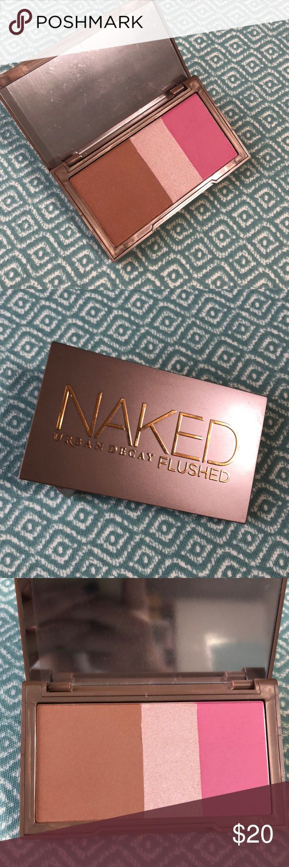 New Urban Decay Naked Flushed pallet in Native Brand new with plastic still on mirror never used Naked urban decay flushed face pallet in Native Urban Decay Makeup Bronzer