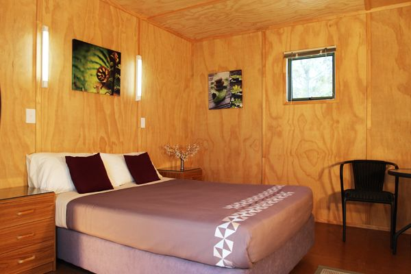 Eco Chalet | Russell - Orongo Bay Holiday Park. Our Chalets are designed to employ sustainable eco-friendly systems, including low energy lighting and environmentally friendly wastewater treatment.