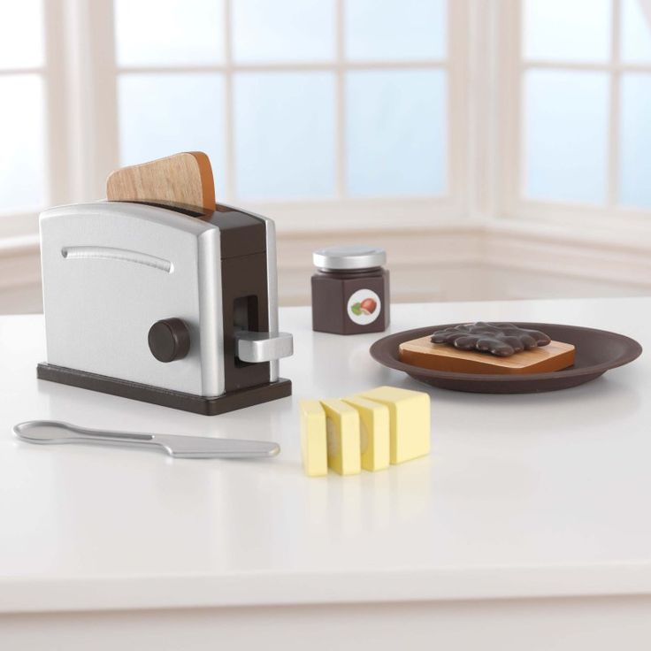 KidKraft Espresso Toaster Set with Jelly - 63373