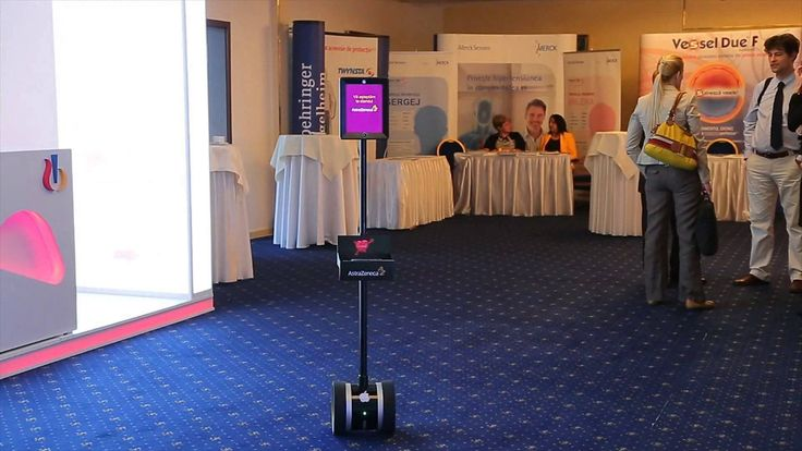 See how our interactive robot is impressing the crowd.The future is here....and it's awesome Custom Telepresence robot application for healtcare event.