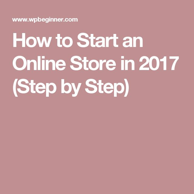 how to start an online store step by step