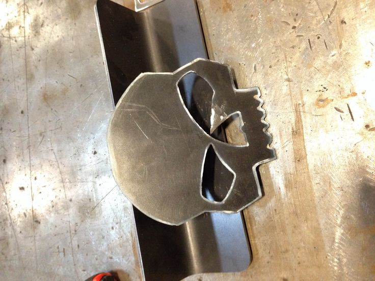 Harley Davidson Skull Cut Out With A Plasma Cutter My