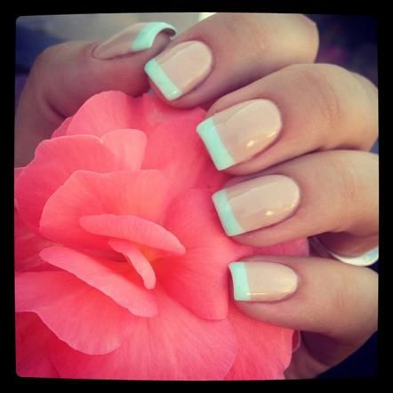 Mint French Manicure :)