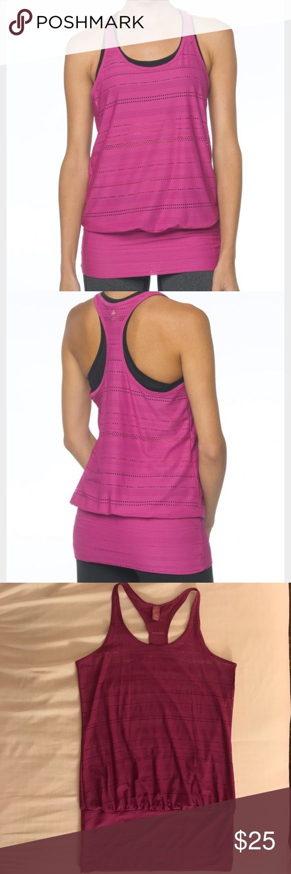 PrAna Ambrosia Athletic Tank Top Excellent condition PrAna Ambrosia Purple Tank Top. Breathable performance mesh dries quickly with a wide self band at the hem to keep it in place during a work out. Racerback style. Prana Tops Tank Tops