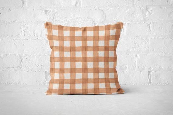 Buffalo Check Autumn Pillow Cover 17x17