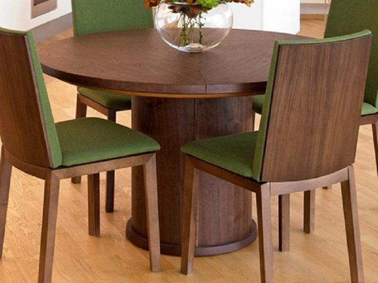 Round Extendable Dining Table And Chairs With Leaf Room Tables Home Design
