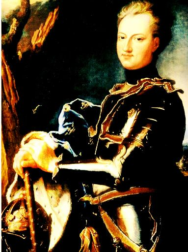 Charles XII in his combat gear