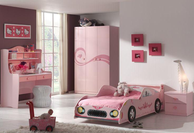Mädchenzimmer »LIZZY« 4-tlg pink lackiert mit Autobett Jetzt bestellen unter: https://moebel.ladendirekt.de/kinderzimmer/betten/kinderbetten/?uid=a7eadeb2-87f9-5b24-b9f9-9027f8ea58b8&utm_source=pinterest&utm_medium=pin&utm_campaign=boards #möbel #jugendzimmer #kinderzimmer #jugendmöbel #kinderbetten #jugendbetten #betten #kindermöbel #schreibtische #kleiderschränke