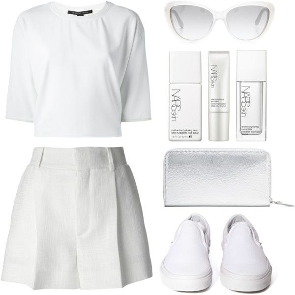 """Look 14 - Silver Casual"" by splashthestyle on Polyvore polyvore, fashion set, fashion, ootd, collage, minimal, outfit"