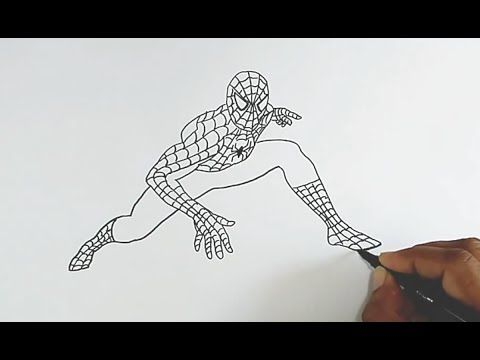 stp by step how to draw marvel spiderman