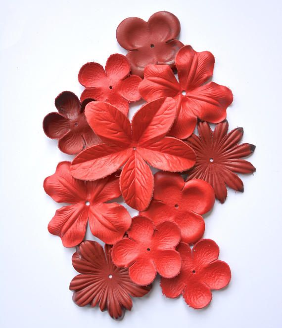 leather flower  set