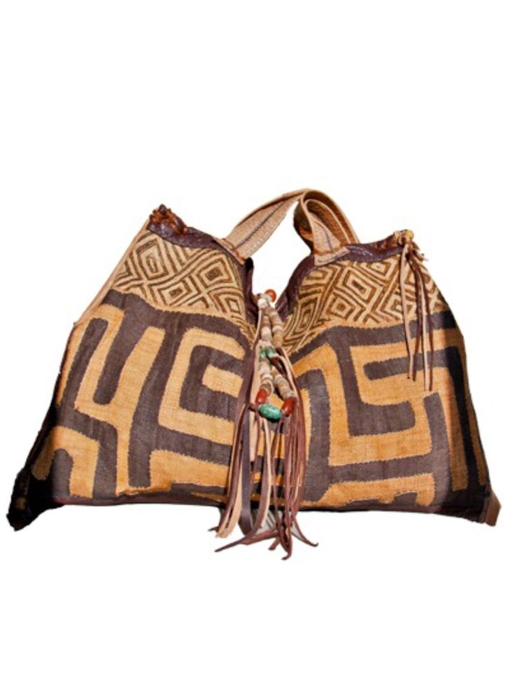African kuba cloth bag...