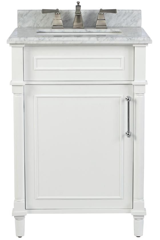 Awesome Websites Home Decorators Collection Aberdeen in D Bath Vanity in White with Natural Marble Vanity Top in The Home Depot
