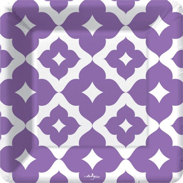 Quatrefoil Purple Dessert Plates  sc 1 st  Pinterest & 73 best Modern Design Paper Plates u0026 Napkins images on Pinterest ...