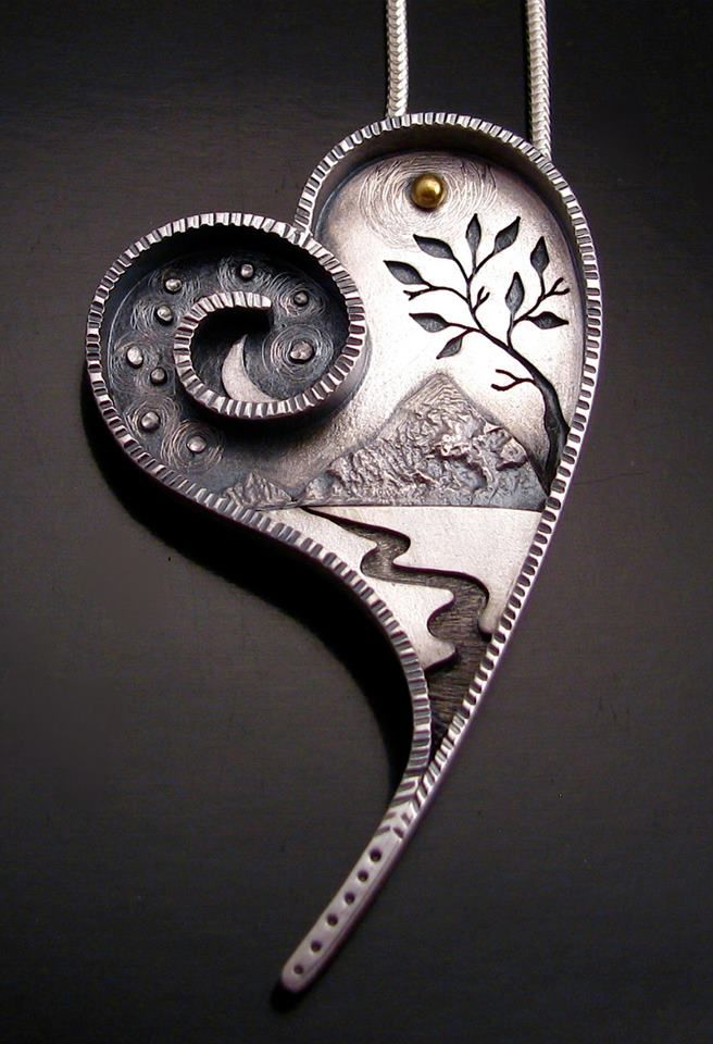 Cool heart pendant